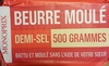 Beurre moulé demi-sel - Product