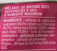 Raisins sans pépin en mélange - Ingrédients - fr