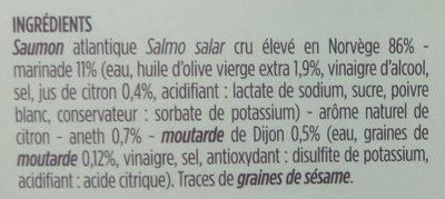 Tartare de saumon cru - Ingrédients