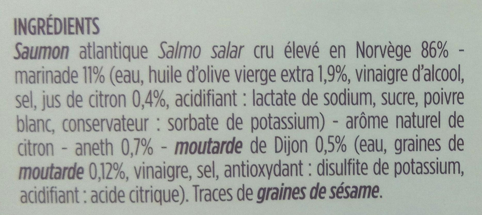 Tartare de saumon cru - Ingrédients - fr