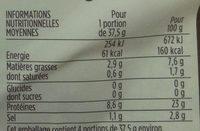 Saumon Atlantique fumé, élevé en Irlande - Nutrition facts