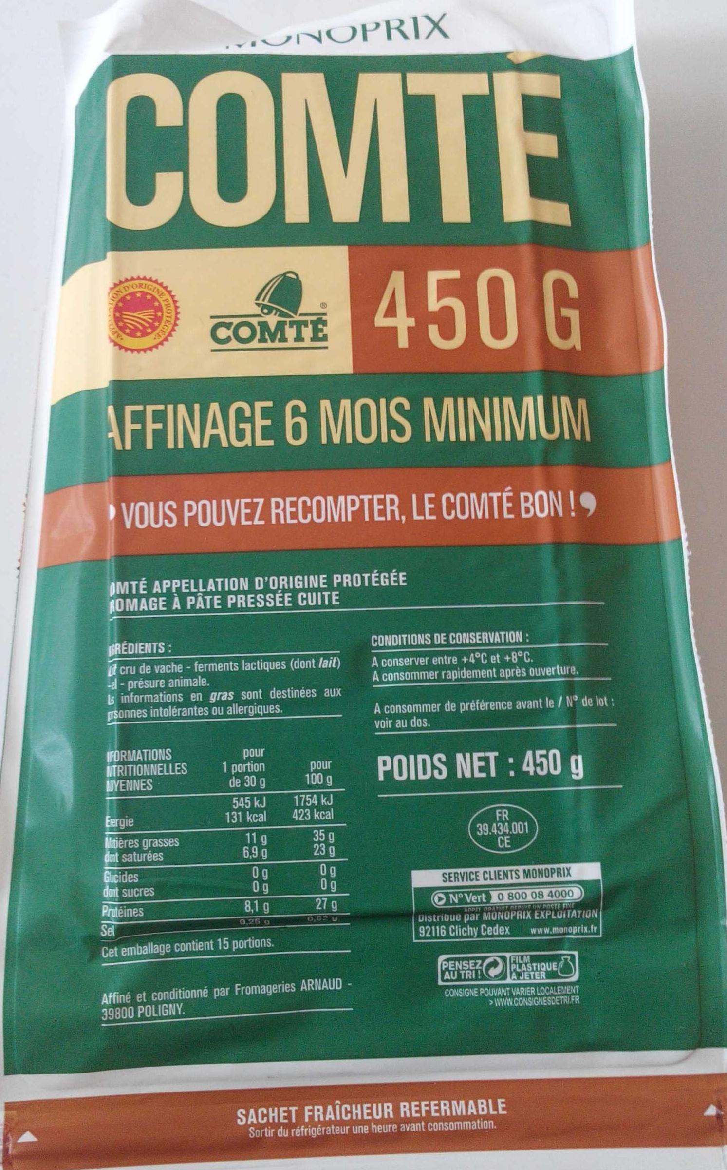 Comté AOP (35 % MG) - Produit - fr