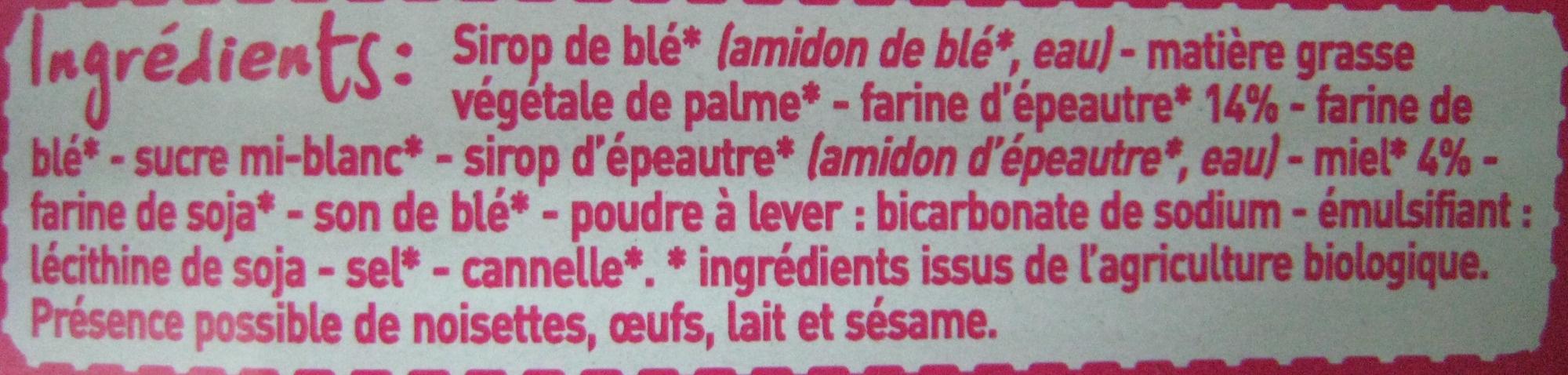 6 Gaufres au Miel à la farine d'épeautre - Ingrédients