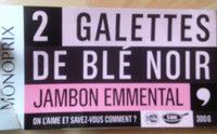 2 galettes de blé noir jambon emmental - Produit - fr