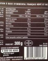 2 galettes de blé noir jambon emmental - Informations nutritionnelles