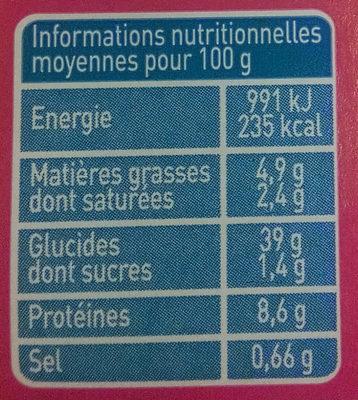 Raviolis ricotta épinards aux œufs Bio - Voedingswaarden - fr