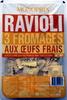 Ravioli 3 Fromages aux Œufs Frais - Product