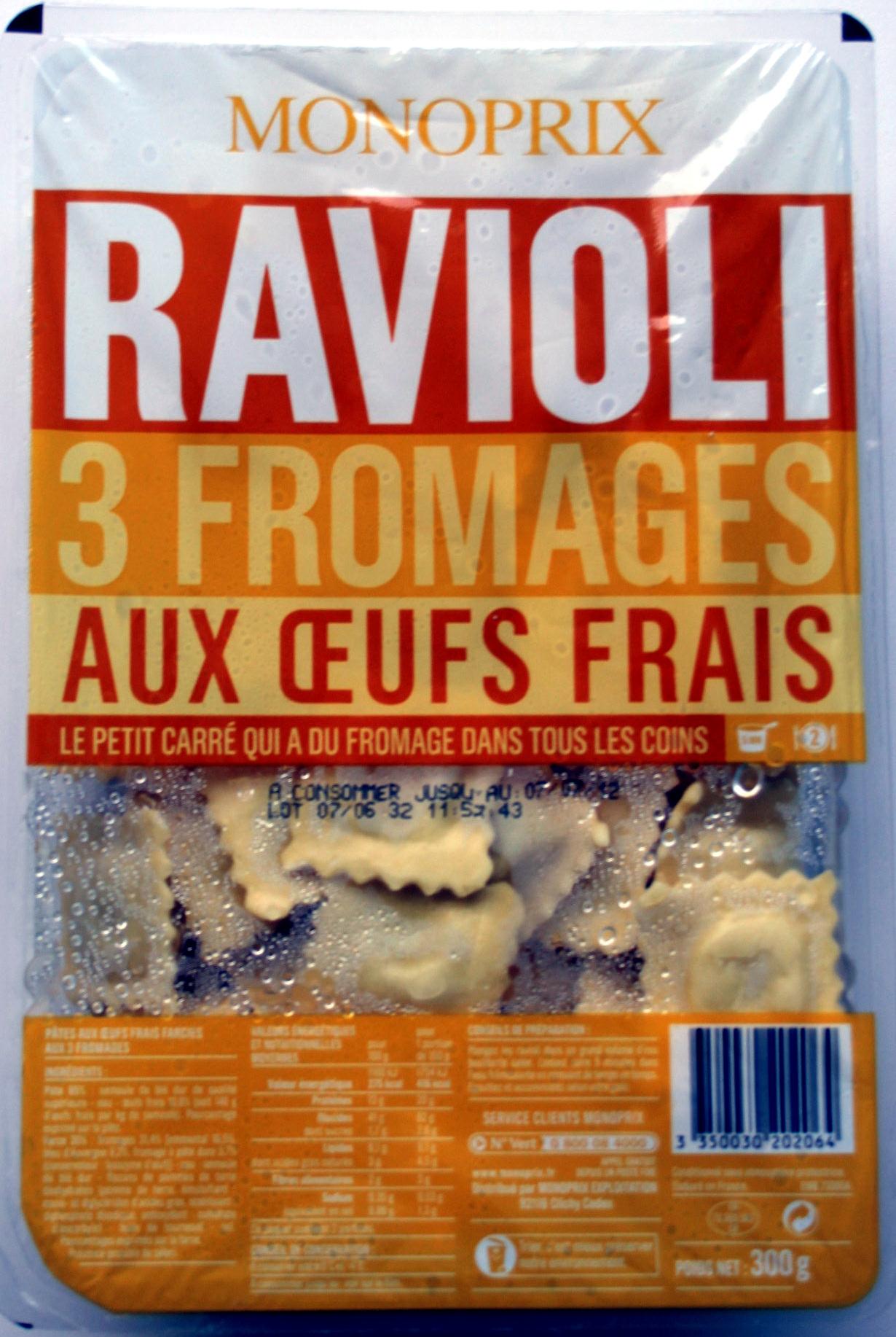 Ravioli 3 Fromages aux Œufs Frais - Product - fr