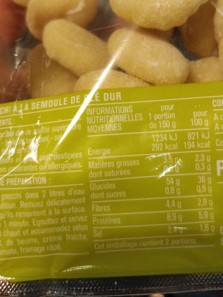 Gnocchi à la semoule de blé dur - Ingrédients - fr