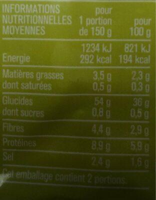 Gnocchi à la semoule de blé dur - Informations nutritionnelles - fr