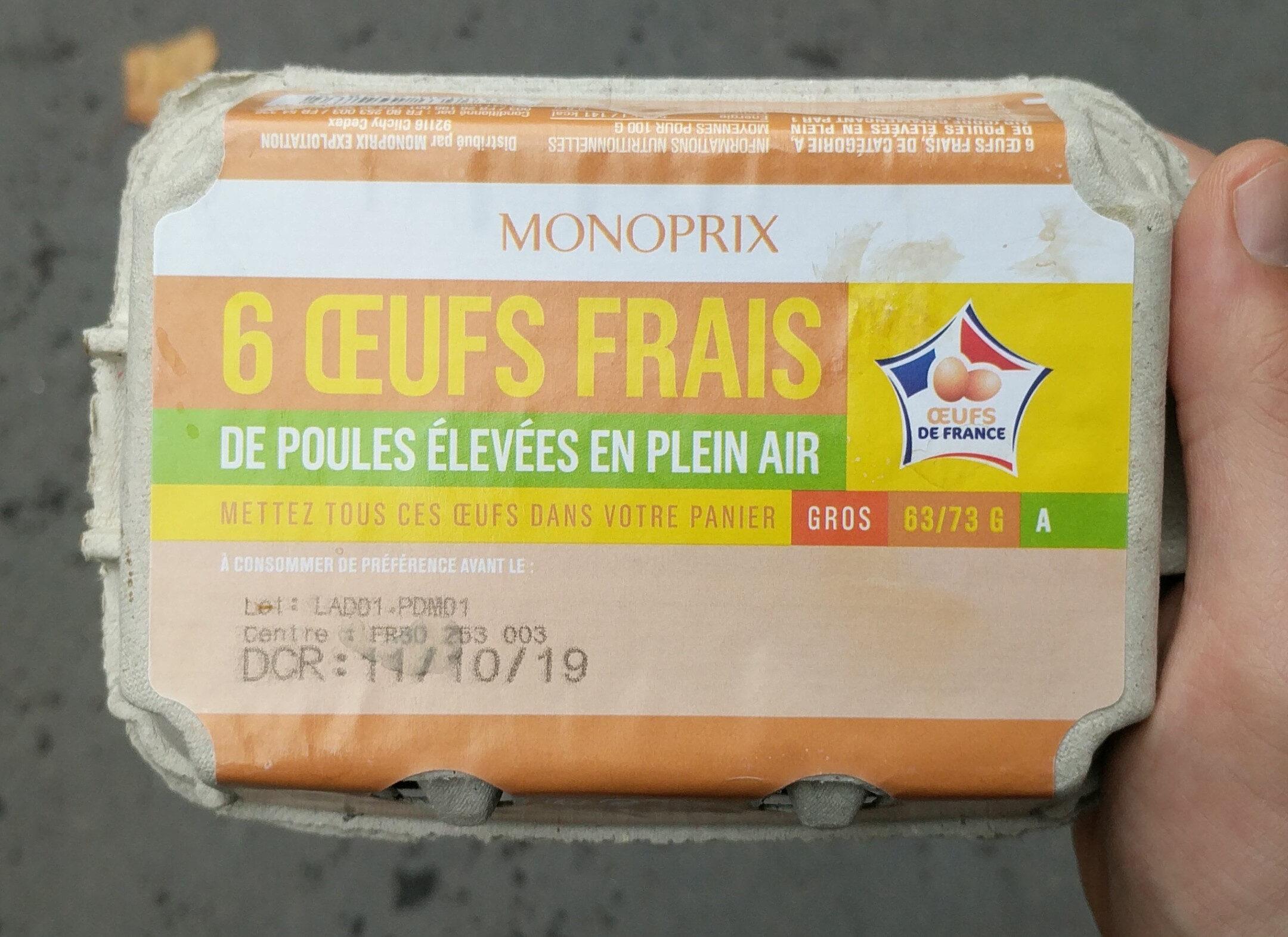 Œufs frais de poules élevées en plein air - Produit - fr