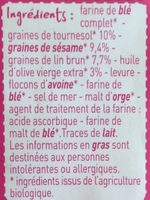 Toast Croustillant aux 3 graines - Ingrediënten