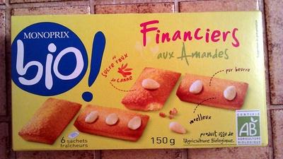 Financiers aux Amandes Monoprix bio - Product - fr