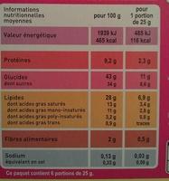 Financiers aux Amandes Monoprix bio - Nutrition facts - fr