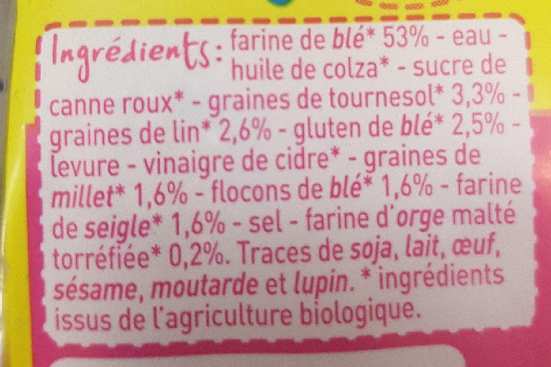Pain aux Céréales - Ingredients - fr