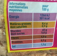 Pain aux Céréales - Nutrition facts - fr