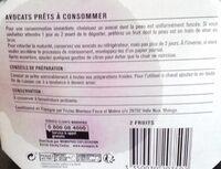 Avocat, Variété Hass - Informations nutritionnelles - fr