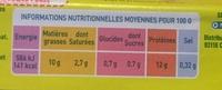 œufs frais de poules élevées en plein air issus de l'agriculture biologique - Nutrition facts