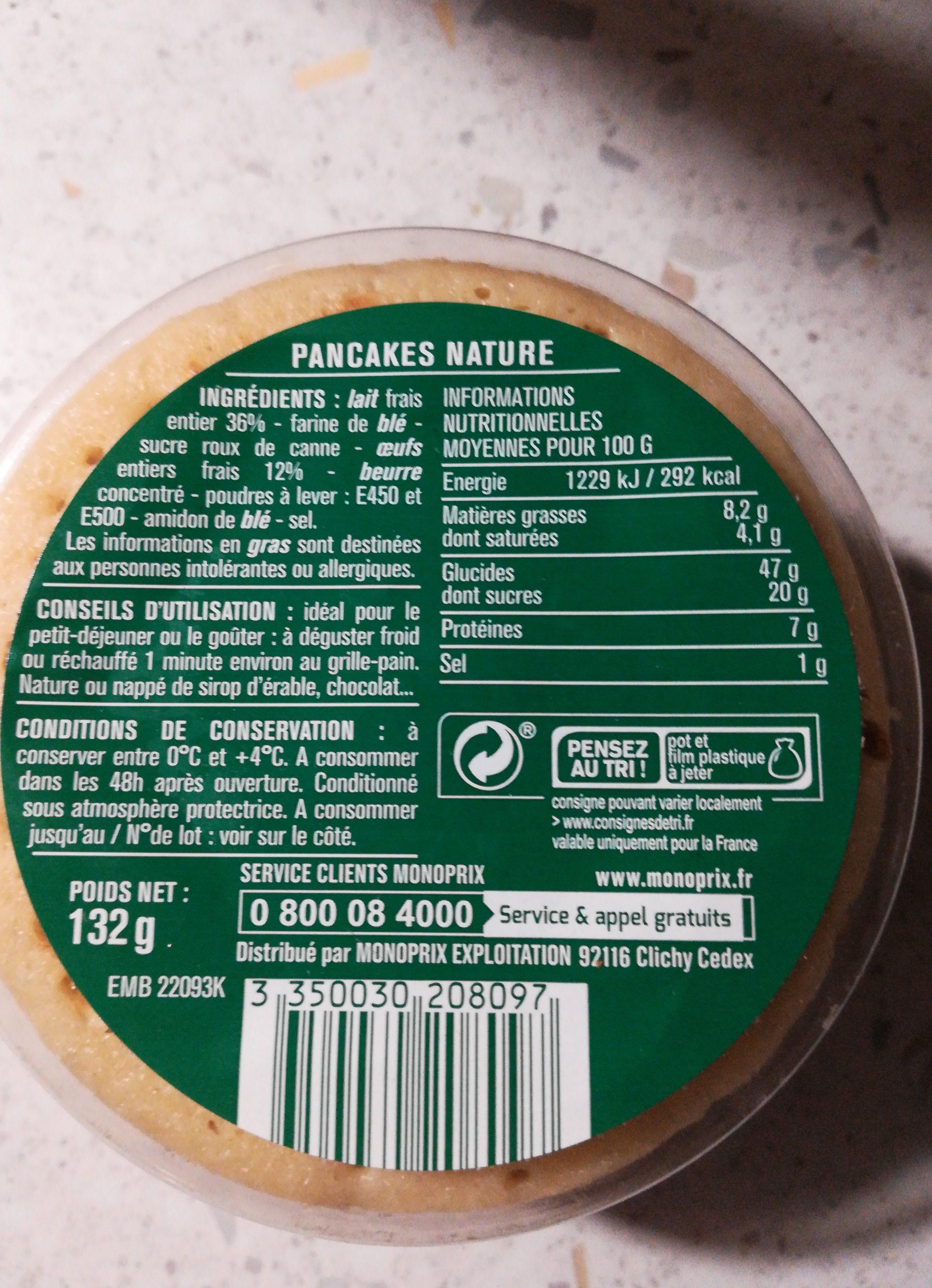 Pancakes nature frais - Ingrediënten - ca