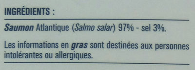 Saumon fumé élevé en Ecosse - Ingrediënten - fr