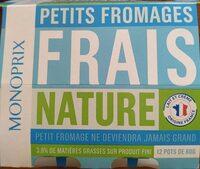 Petits fromages frais nature - Produit - fr