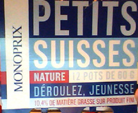Petits Suisses Nature (10,4 % MG) - (12 pots de 60 g) - Produit - fr
