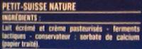 Petits Suisses Nature (10,4 % MG) - (12 pots de 60 g) - Ingrédients - fr