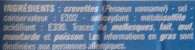 Crevettes entières - Ingrédients - fr