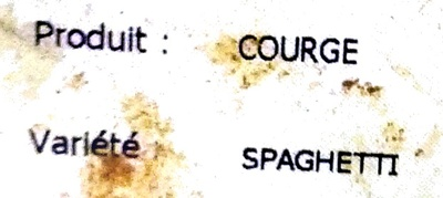 Courge spaghetti - Ingrédients - fr