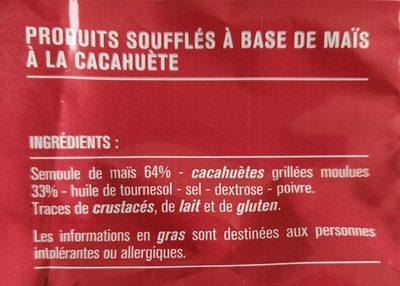 Soufflés croustillants cacahuètes grillées - Ingrédients - fr