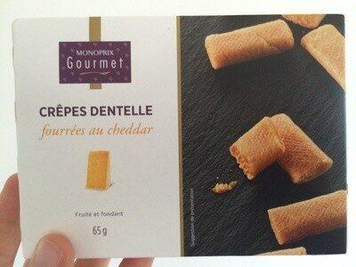 Crêpes dentelle fourrées au cheddar - Product - fr