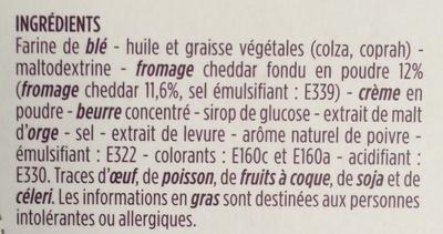 Crêpes dentelle fourrées au cheddar - Ingrédients