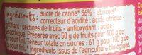 Confiture d'abricot au sucre de canne - Ingredients - fr