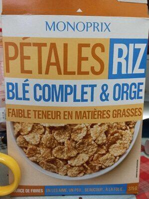 Pétales Riz blé complet & orge - Produit - fr