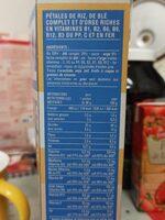 Pétales Riz blé complet & orge - Informations nutritionnelles - fr