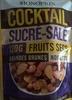 Cocktail sucré-salé fruits secs amendes brunes noisettes - Produit