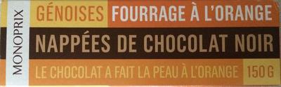 Génoises fourrage à l'orange nappées de chocolat noir - Produit