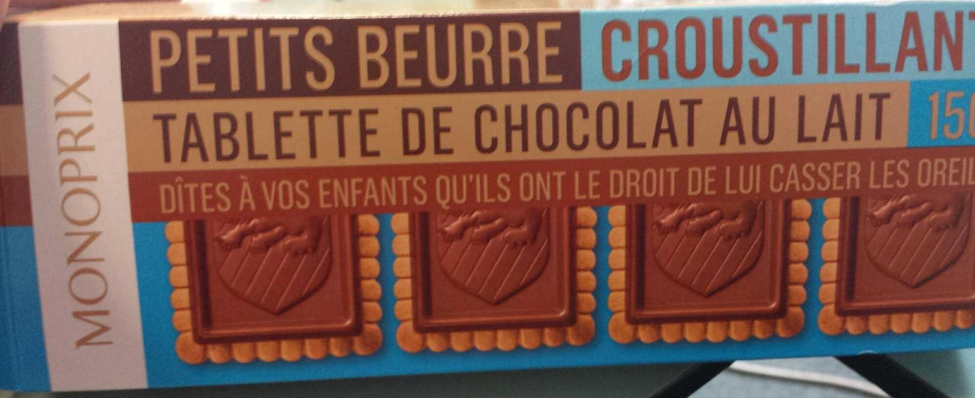 Petits Beurre Croustillant Tablette de Chocolat au Lait - Produkt - fr