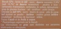 Petits Beurre Croustillant Tablette de Chocolat au Lait - Inhaltsstoffe - fr