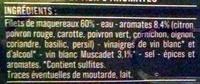 Filets de Maquereaux (au Muscadet et aux 9 Aromates) - Ingrédients