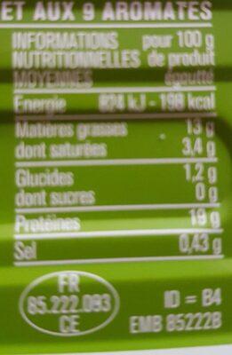 Filets de Maquereaux au Muscadet et aux 9 Aromates - Informations nutritionnelles - fr