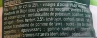 Vinaigrette aux fines herbes 25% MG - Ingredients - fr