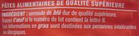 Farfalle - Ingredients - fr