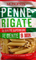 Penne Rigate (Al dente 9 min.) - Produit