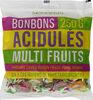 Bonbons acidulés multifruits au cassis, citron, fraise, poire et orange - Prodotto