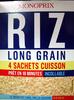 Riz long grain 4 sachets cuisson Monoprix - Product