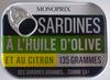 Sardines à l'Huile d'Olive et au Citron - Produit