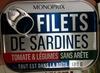 Filets de Sardines (Tomate & Légumes), Sans arête - Produit