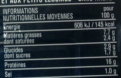 Filets de Sardines (Tomate & Légumes), Sans arête - Voedingswaarden - fr