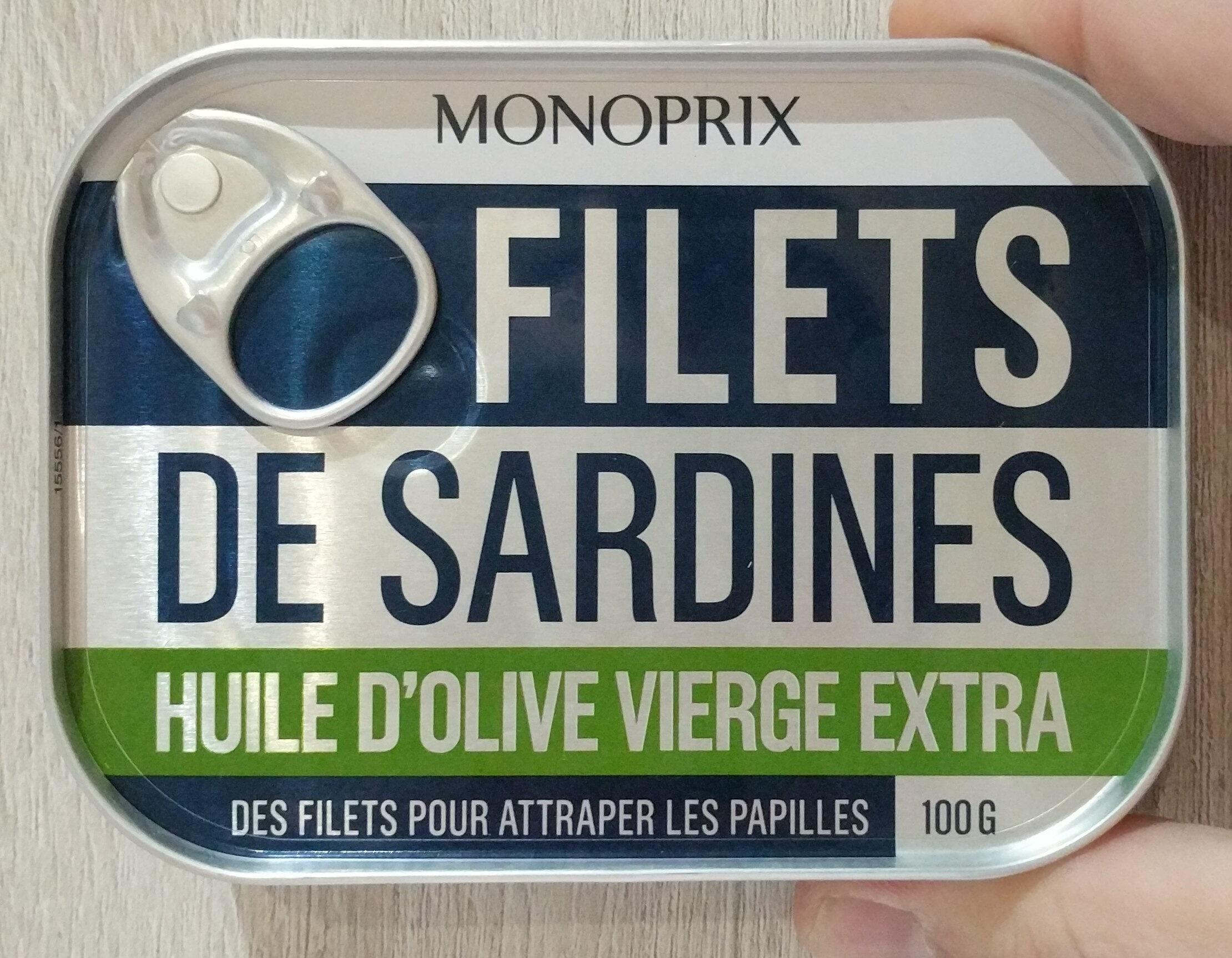 Filets de sardines à l'huile d'olive vierge extra, sans arête - Produit - fr